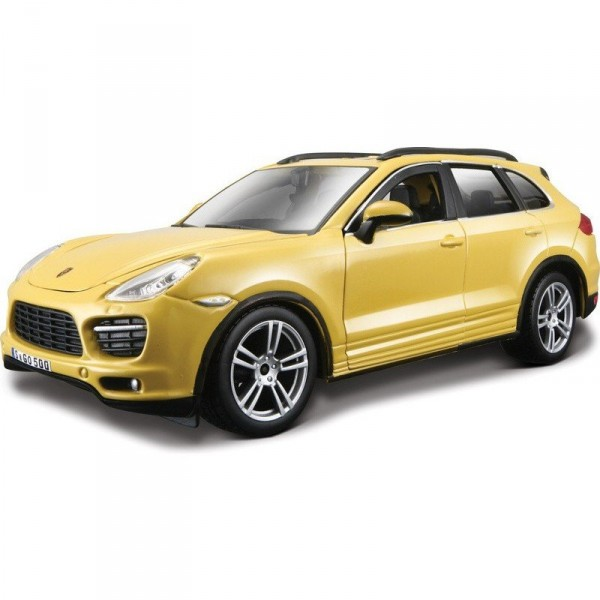 Model Porsche Cayenne Turbo 1:24 žlutá (1)