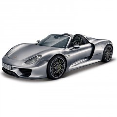 Model Porsche 918 Spyder Metallic 1:24 šedá