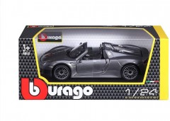 Model Porsche 918 Spyder Metallic 1:24 šedá (2)