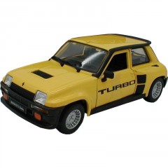 Model Renault 5 Turbo 1:24 žlutá